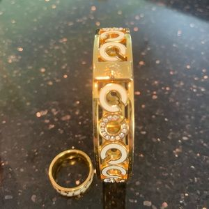 Coach bangle bracelet and ring